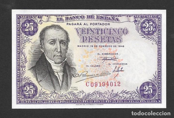 25 PESETAS 1946 SERIE C S/C (Numismática - Notafilia - Billetes Españoles)