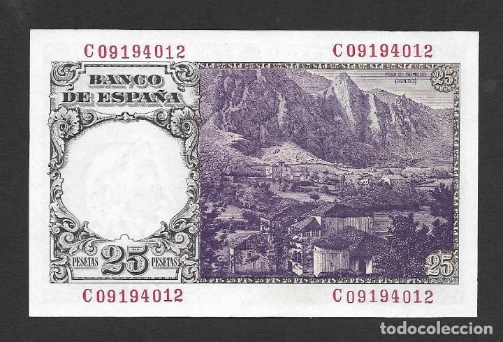 Billetes españoles: 25 PESETAS 1946 SERIE C S/C - Foto 2 - 239959255