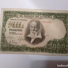 Billetes españoles: BILLETE DE 1000 PTAS 1951- JOAQUIN SOROLLA- S/SERIE 9935690. Lote 240030665