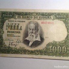 Billetes españoles: BILLETE 1000 MIL PESETAS 1951..JOAQUIN SOROLLA. 1951.. MBC +. Lote 240439135