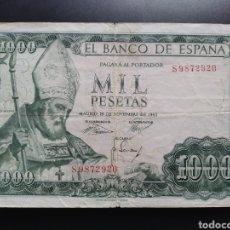 Billetes españoles: ESPAÑA 1000 PESETAS 1965 - ENVIO GRATIS A PARTIR DE 35€. Lote 242149885