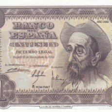 Billetes españoles: BILLETE FACSIMIL 107 - DON QUIJOTE DE LA MANCHA - 1 PTA - 19 NOVIEMBRE 1951 - VALOR 35€. Lote 242878440
