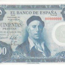 Billetes españoles: BILLETE FACSIMIL 145 - IGNACIO ZULOAGA Y VISTA DE TOLEDO - 500 PTAS - 22 JULIO 1954 - VALOR 950€. Lote 242912825