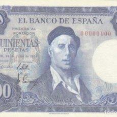Billetes españoles: BILLETE FACSIMIL 145A - IGNACIO ZULOAGA Y VISTA DE TOLEDO - 500 PTAS - 22 JULIO 1954 - VALOR 950€. Lote 242912905