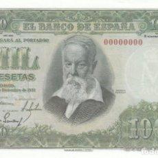 Billetes españoles: BILLETE FACSIMIL 153 - JOAQUIN SOROLLA - 1000 PTAS - 31 DICIEMBRE 1951 - VALOR 700€. Lote 242916050