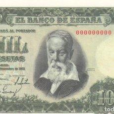 Billetes españoles: BILLETE FACSIMIL 153A - JOAQUIN SOROLLA - 1000 PTAS - 31 DICIEMBRE 1951 - VALOR 700€. Lote 242916260
