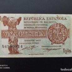 Billetes españoles: 1PTA DE 1937.. SERIE A .. REPUBLICA.. PRECIOSO.....ES EL DE LAS FOTOS.. Lote 243417880