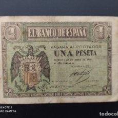 Billetes españoles: 1 PESETA DE 1938..ABRIL..SERIE M.... BONITO Y ESCASO......ES EL DE LAS FOTOS.. Lote 243418620