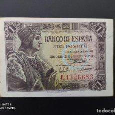 Billetes españoles: 1 PESETA DE 1943....SERIE E...PRECIOSO.....ES EL DE LAS FOTOS.. Lote 243419020