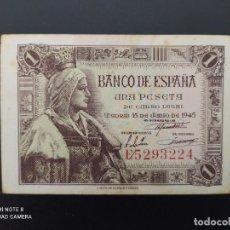 Billetes españoles: 1 PESETA DE 1945....SERIE E...PRECIOSO.....ES EL DE LAS FOTOS.. Lote 243419170