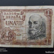 Billetes españoles: 1 PESETA DE 1953....SERIE W... BONITO...ES EL DE LAS FOTOS.. Lote 243420750