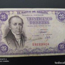 Billetes españoles: 25 PESETAS DE 1946 SERIE E. ( MUY BONITO Y ESCASO )....ES EL DE LAS FOTOS.. Lote 243424800