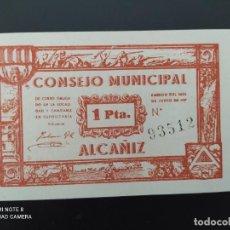 Notas espanholas: 1 PTA..1937.. CONSEJO MUNICIPAL DE ALCAÑIZ...SC....ES EL DE LAS FOTOS. Lote 243448120
