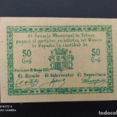 Notas espanholas: 50 CENTIMOS DE..1937.. CONSEJO MUNICIPAL DE TOTANA...SC.-..ES EL DE LAS FOTOS. Lote 243448675