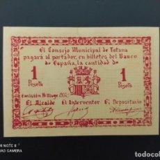 Notas espanholas: 1 PTA DE..1937.. CONSEJO MUNICIPAL DE TOTANA...SC.-..ES EL DE LAS FOTOS. Lote 243448875
