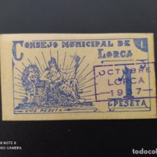 Notas espanholas: 1 PTA DE..1937.. CONSEJO MUNICIPAL DE LORCA....EBC -..ES EL DE LAS FOTOS. Lote 243450470
