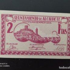 Notas espanholas: 2 PESETAS... CONSEJO MUNICIPAL DE ALCAUDETE..SC....ES EL DE LAS FOTOS. Lote 243450820