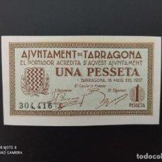 Notas espanholas: 1 PESETA DE 1937... AJUNTAMENT DE TARRAGONA...SC...ES EL DE LAS FOTOS. Lote 243451445