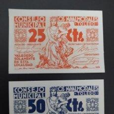 Notas espanholas: LOTE DE 25 Y 50 CENTIMOS ..CONSEJO MUNICIPAL DE NAVALMORALES.(TOLEDO)..SC...ES EL DE LAS FOTOS. Lote 243473550