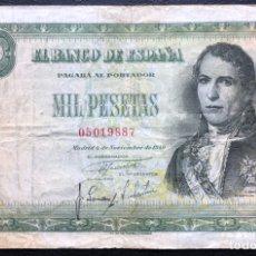 Billetes españoles: BILLETE 1000 PESETAS 1949 BC++. Lote 243881620