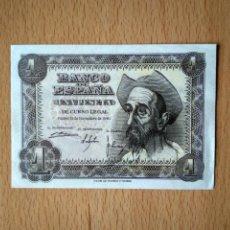 Billetes españoles: BILLETE 1 PESETA BANCO DE ESPAÑA MADRID AÑO 1951 ESTADO ESPAÑOL DON QUIJOTE UNA PESETA. Lote 244528160