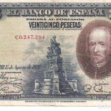 Billetes españoles: ESPAÑA 25 PESETAS 1928 CALDERON DE LA BARCA. Lote 244843295