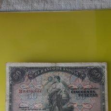 Billetes españoles: ESPAÑA B9.439.844 50 PESETAS 24 SEPTIEMBRE 1906 BANCO ESPAÑA AUTÉNTICO NUMISMÁTICA COLISEVM. Lote 245419615