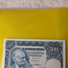 Billetes españoles: PLANCHA SERIE C 899435 500 PESETAS 15 NOVIEMBRE 1951 MARIANO BENLLURE BANCO ESPAÑA COLISEVM. Lote 245756235