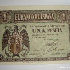 Billetes españoles: 1 PESETA. 1938. SERIE H. SC. Lote 245895250