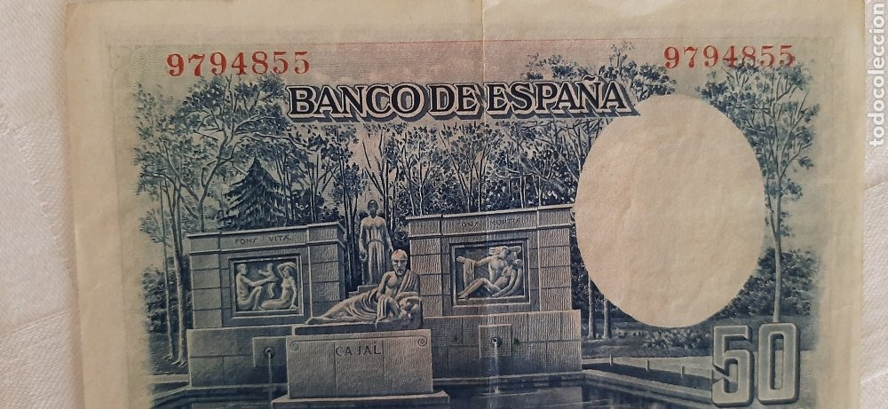 Billetes españoles: billete 50 pesetas 1935 - Foto 5 - 246490965