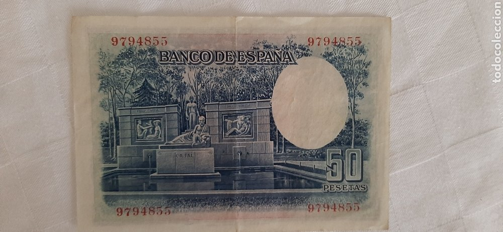 Billetes españoles: billete 50 pesetas 1935 - Foto 2 - 246490965