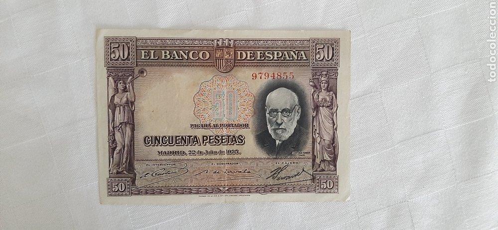 BILLETE 50 PESETAS 1935 (Numismática - Notafilia - Billetes Españoles)