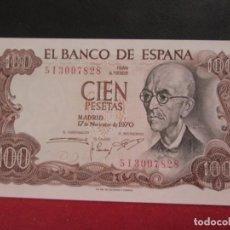 Billetes españoles: 100 PESETAS 17 NOVIEMBRE 1970 SERIE 5I PLANCHA. Lote 246492525