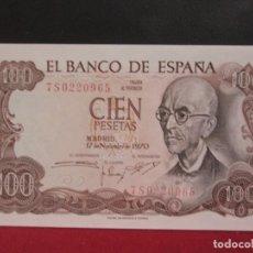 Billetes españoles: 100 PESETAS 17 DE NOVIEMBRE1970 SERIE 7S PLANCHA. Lote 246492895