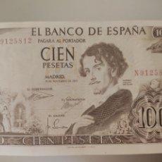 Billetes españoles: ESPAÑA. BILLETE DE 100 PESETAS 1965. SERIE N. CALIDAD PLANCHA.. Lote 246590690