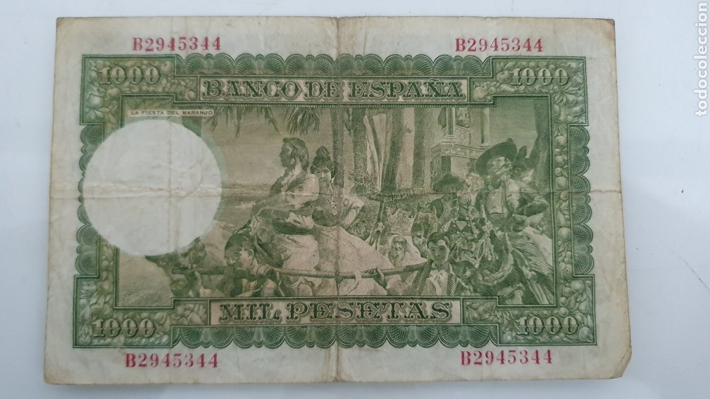 Billetes españoles: Billete de 1000 pesetas Joaquín Sorolla 1951. - Foto 2 - 247055880