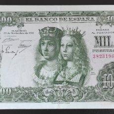 Billetes españoles: 1000 PESETAS 1957 SIN SERIE. Lote 247128610