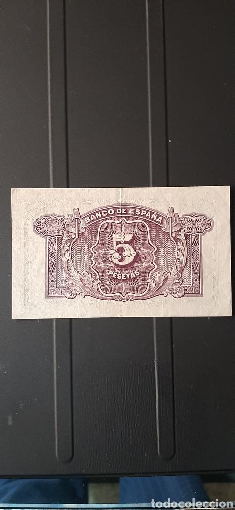 Billetes españoles: 5 pesetas república española - Foto 4 - 247221485