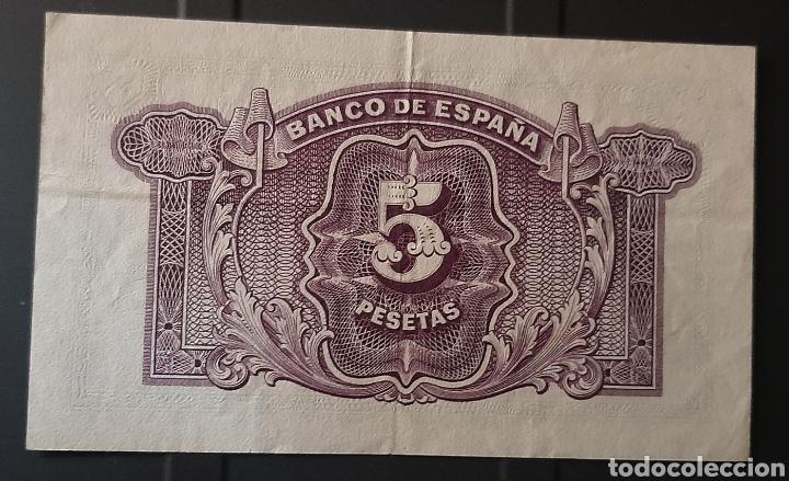 Billetes españoles: 5 pesetas república española - Foto 2 - 247221485