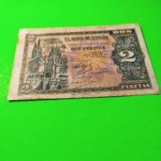 Billetes españoles: BILLETE DE 2 PESETAS. 30.04.1.938 BANCO DE ESPAÑA. SERIE N 9931682 DESCRIPCION Y FOTOS.. Lote 247550360