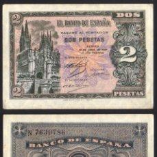 Billetes españoles: BILLETE ESPAÑA - 2 PESETAS - 1938 - NO CIRCULADO. Lote 247665960