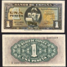Billetes españoles: BILLETE ESPAÑA - 1 PESETA - 1940 - NO CIRCULADO. Lote 247666520