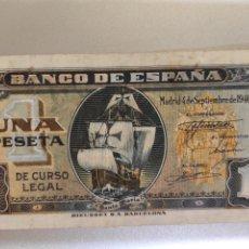 Billetes españoles: ESPAÑA. BILLETE DE 1 PESETA 1940. SERIE A. BUENA CONSERVACIÓN.. Lote 247798475