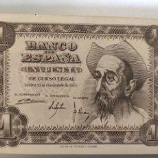 Billetes españoles: ESPAÑA. BILLETE DE 1 PESETA 1951. SIN SERIE. EBC. Lote 247801045
