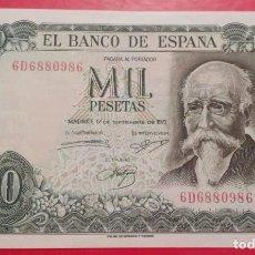Billetes españoles: BILLETE 1.000 PESETAS 1971, SIN CIRCULAR SERIE (6D), SERIE CASI CAPICUA.. Lote 280107578