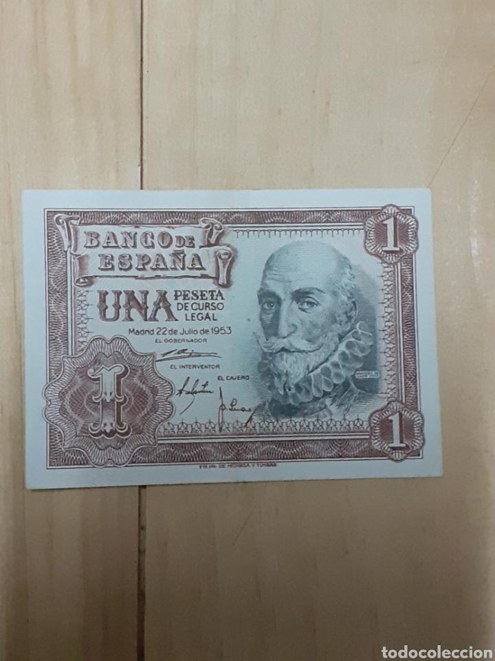 BILLETE DE 1 PESETA AÑO 1953 (Numismática - Notafilia - Billetes Españoles)