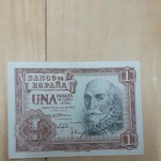 Billetes españoles: BILLETE DE 1 PESETA AÑO 1953. Lote 248089890