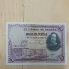 Billetes españoles: BILLETE DE 50 PESETAS AÑO 1928. Lote 248090650