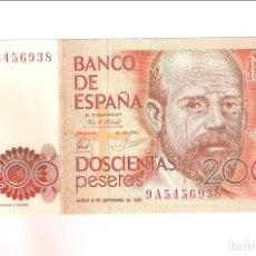 Banconote spagnole: BILLETE DE 200 PESETAS DE JUAN CARLOS I DE 1980. SERIE 9 A. SIN CIRCULAR- (R6). Lote 248154460