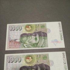 Billetes españoles: BILLETES 1000 PESETAS SIN CIRCULAR CORRELATIVOS. Lote 248285210